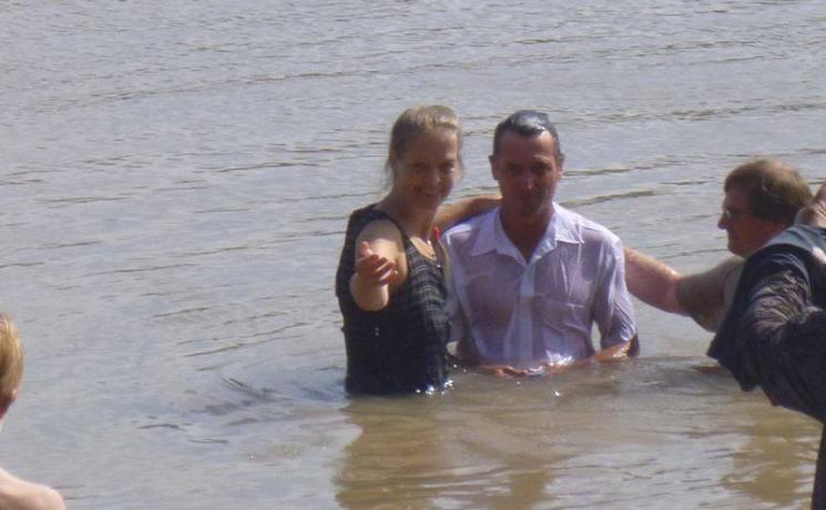 La Pastora Estela Andersen junto a Lucho Faust. Foto: Semillas del Sur