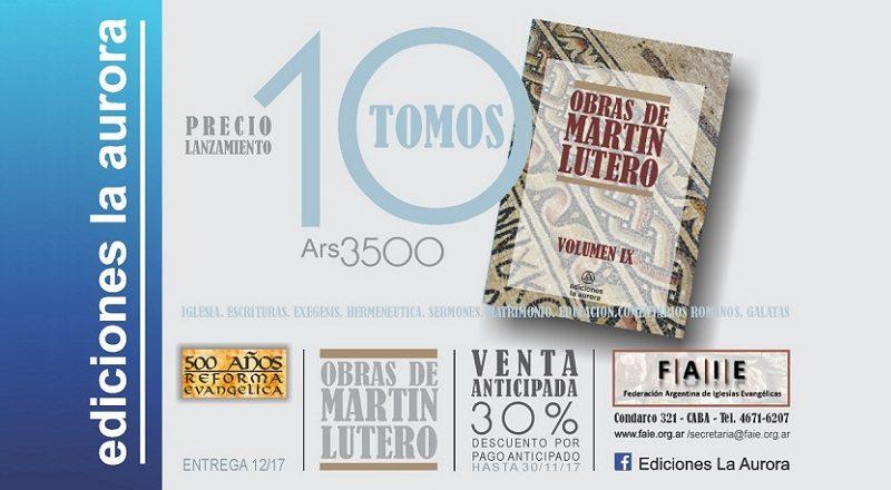 Se lanza en Argentina una reimpresión de las obras completas de Martín Lutero