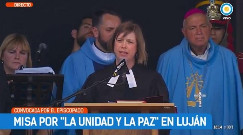 """Oración de la pastora Sonia Skupch en la """"Misa por la unidad y la paz"""""""