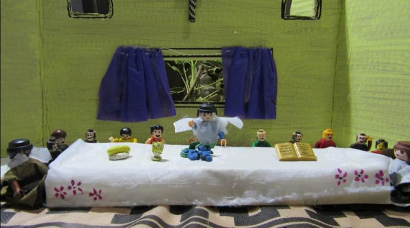 La última cena con playmobil